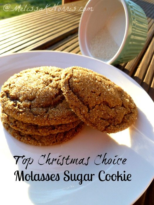 Molasses Sugar Cookie Top Christmas Choice www.melissaknorris.com Pioneering Today