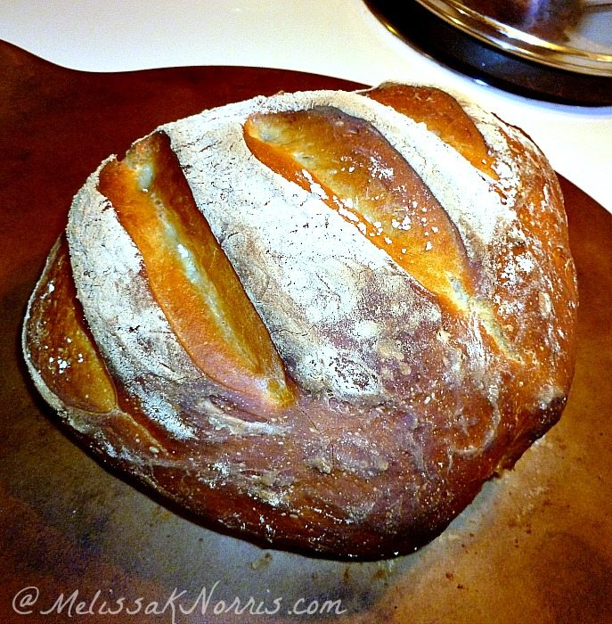 How to bake no knead bread in 5 minutes a day recipe here http://melissaknorris.com/2012/02/22/pioneering-today-bake-your-own-bread-no-kneading/ Cost is $.30 a loaf and it really takes less than 5 active minutes a day. Soft inside and rustic crunchy on the outside.