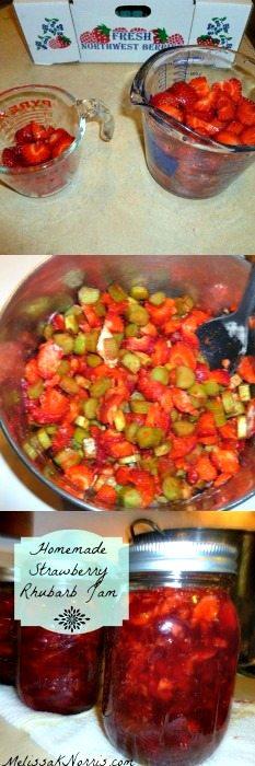 Homemade Strawberry Rhubarb Jam www.melissaknorris.com