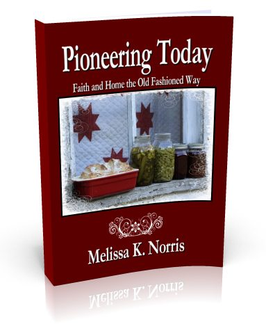 Melissa K. Norris new book Pioneering Today-Faith and Home the Old Fashioned Way
