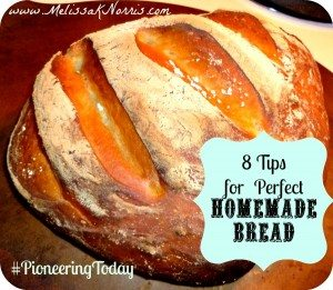 8 Tips for Baking Perfect Homemade Bread @MelissaKNorris #Pioneering Today