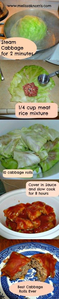 Best Ever Slow Cooker Cabbage Rolls www.melissaknorris.com