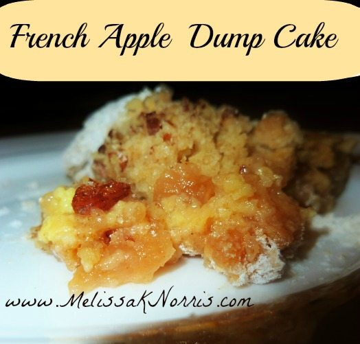 French Apple Dump Cake www.MelissaKNorris.com No boxed cake mix, completely from scratch!