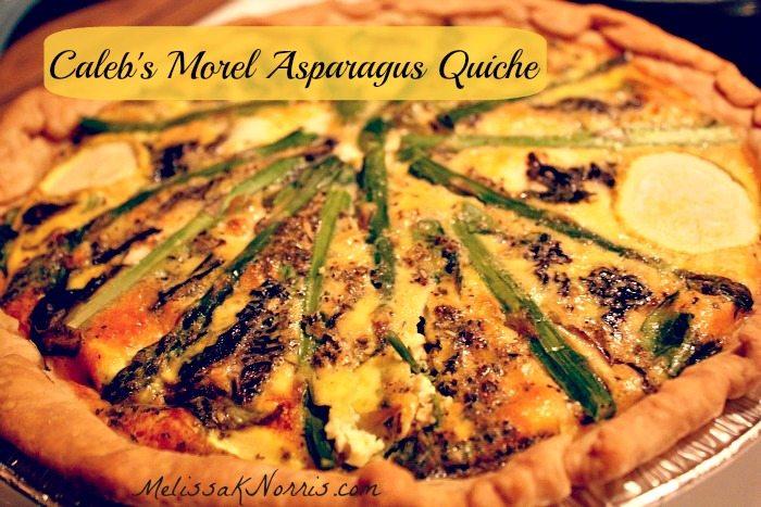 Morel Asparagus Quiche Recipe at www.melissaknorris.com @MelissaKNorris