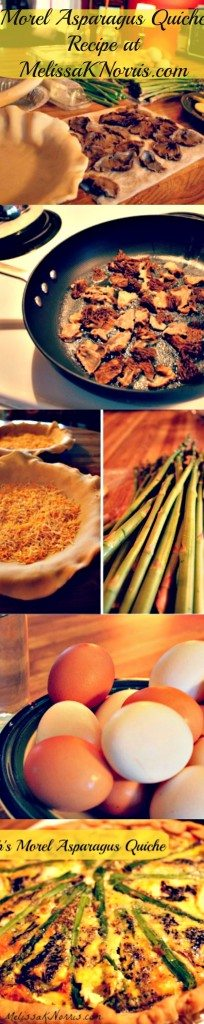 Morel Asparagus Quiche recipe at www.melissaknorris.com