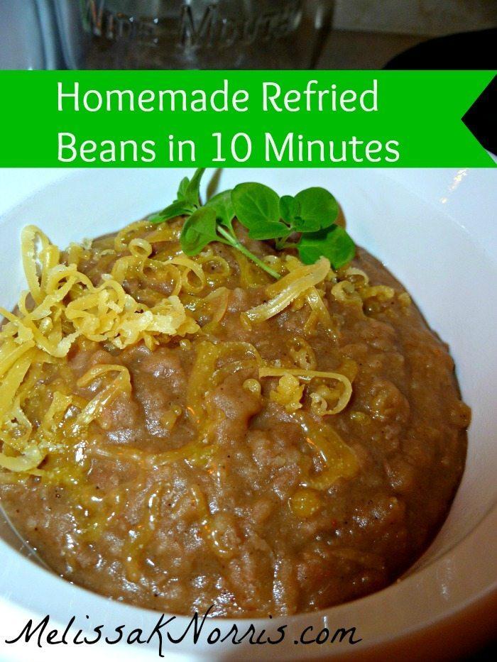 Homemade Refried Beans in 10 Minutes www.MelissakNorris.com