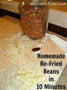 Homemade Refried Beans in 10 Minutes Ingredients