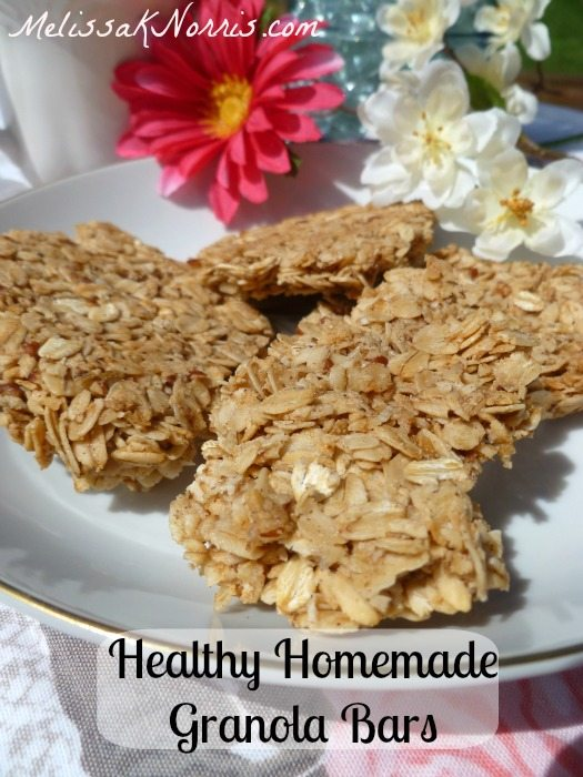 Pioneering Today Healthy Homemade Chunky Granola Bars www.melissaknorris.com