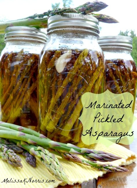 How to Make and Can Marinated Pickled Asparagus www.melisaknorris.com Pioneering Today