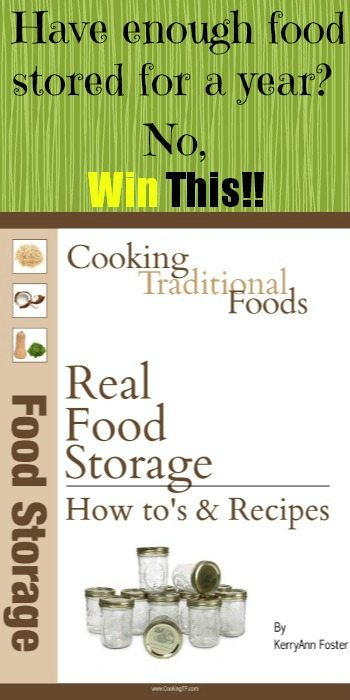 Win a copy of Real Food Storage at www.melissaknorris.com