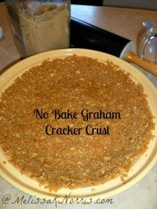 No Bake Graham Cracker Crust from No Bake Pumpkin Cream Pie Recipe www.melissaknorris.com Pioneering Today
