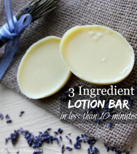 Want to use natural skin care but don't have tons of money or time? These 3 ingredient lotion bars take less than 10 minutes to whip up and use natural ingredients, you probably already have some of them in your kitchen. Grab this easy recipe and tutorial here