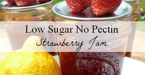low sugar no pectin strawberry jam tutorial and recipe