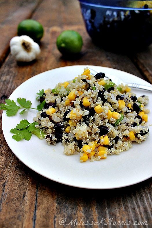 This black bean and quinoa salad is perfect for hot summer nights. A meal on it's own or a great side dish. Frugal, gluten free, and delicious!