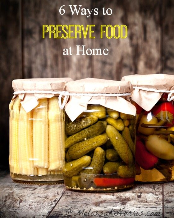 6 ways to preserve food at home. Love how this covers canning and dehydrating, but goes into some of the lesser known methods. Can't wait to use them on all of our summer harvest!