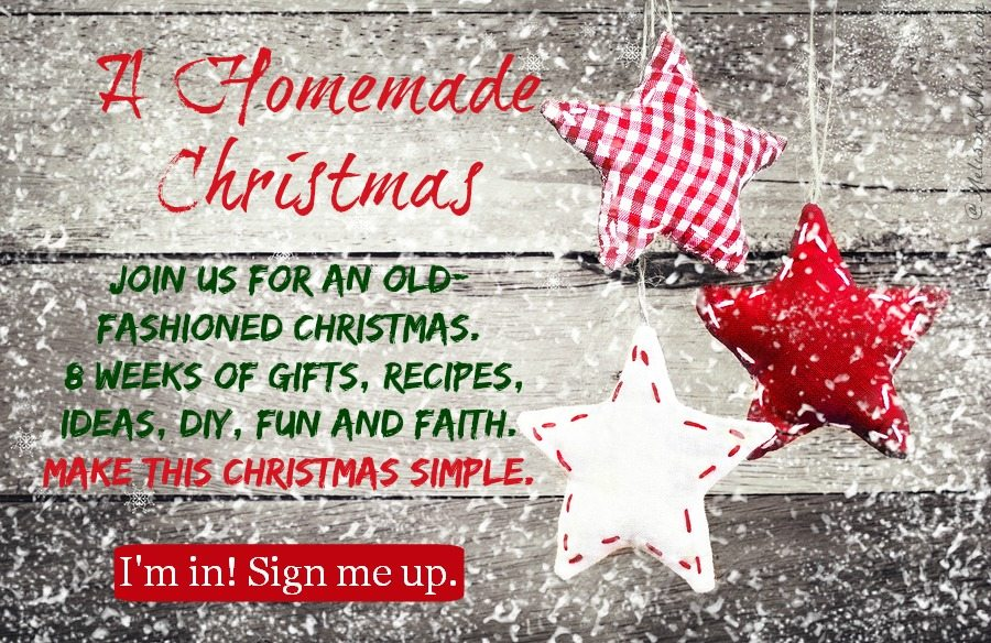 Join a old-fashioned Homemade Christmas series. 8 Weeks of gifts, ideas, and support for a frugal simple Christmas. I'm so in!!