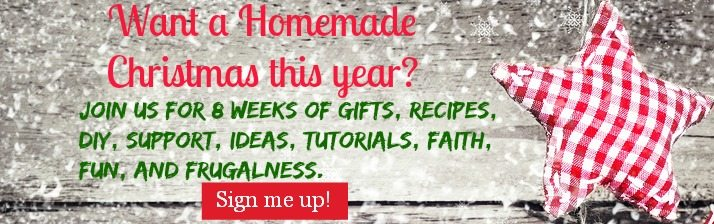 A Homemade Christmas series with 8 weeks of projects, tutorials, ideas, faith, fun, and frugalness for a simple season!