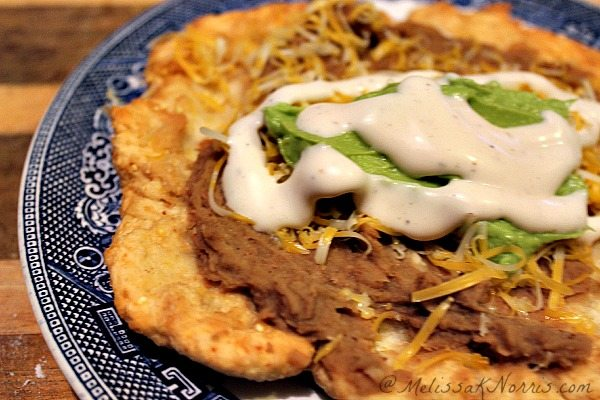 Homemade Indian Fry Bread Tacos