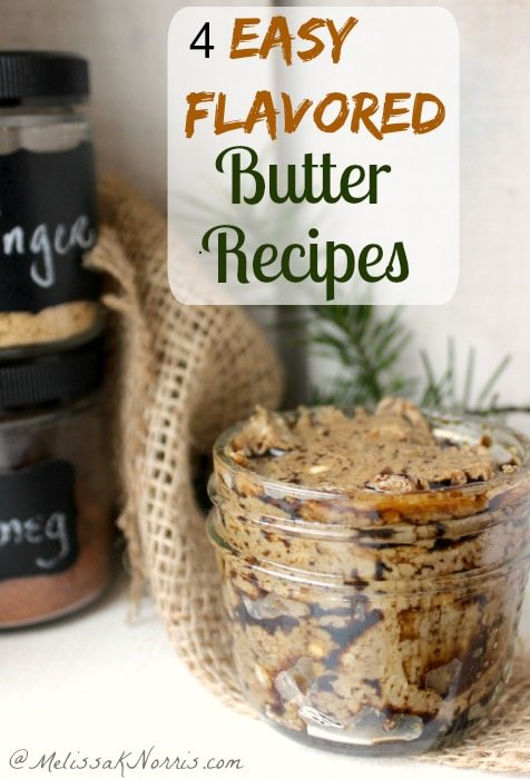 Need a quick treat of gift? These 4 easy flavored butter recipes whip up in a minute and are the perfect quick gift. Plus, you get to use a Mason jar!