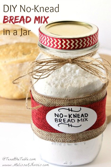 Gifts in a jar recipes are perfect and this DIY no knead bread mix in a jar recipe couldn't be quicker, easier or tastier!