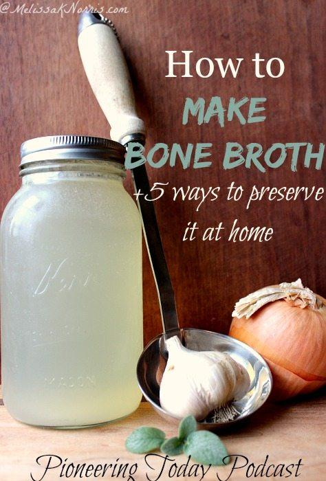 Learn how to make bone broth and stock. A great way to stretch your food budget dollars and provide additional nutrients for your family. Love the 5 different ways to preserve the bone broth at home. I never thought of doing the number 2 and 3. Great ideas to use up the carcass and bones you'd normally just toss. Read this now for tips and ways to make your bone broth go even further.