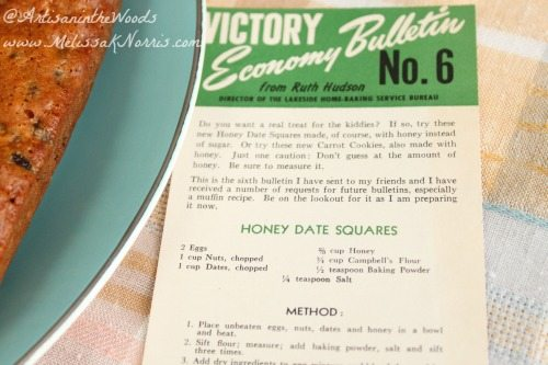 1940's Honey Date Square Recipe