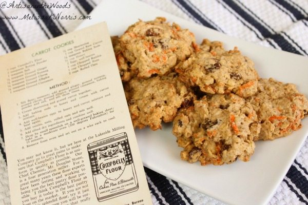 Oatmeal carrot cookie recipe from WW2