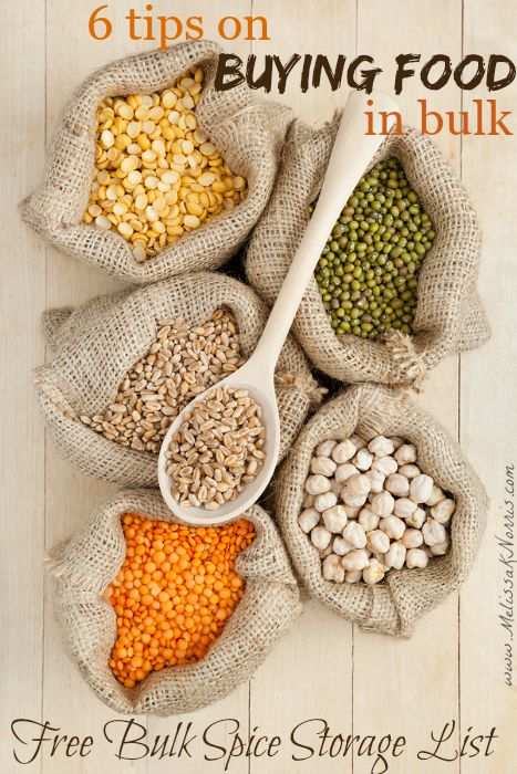 Want to save money and have peace of mind with a full pantry? Use these 6 tips on buying food in bulk and build up your home food storage. FREE bulk spice and herb storage list!