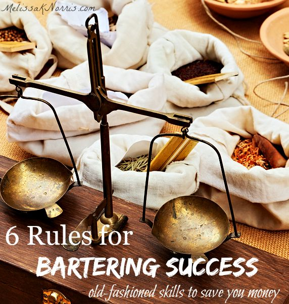 Learn how to purchase goods like our great-great-grandparents did with the old-fashioned art of bartering. These 6 rules will help you make the best deals and learn where to begin bartering in your area. Love these old timey tips, good for being prepared, too.