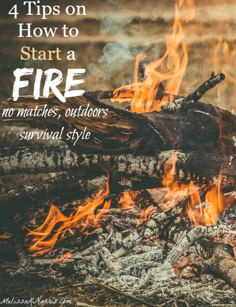 f you don't know how to start and build a fire outdoors without matches or lighters, you need to read this immediately. It's an important skill that could save your life! Great tips and a video.