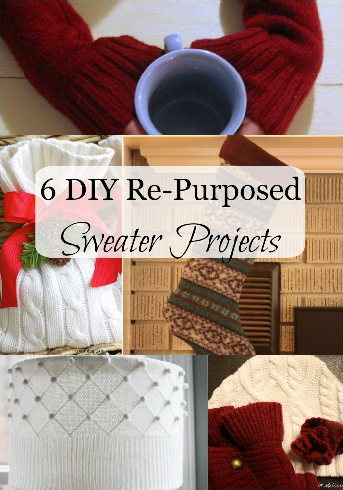 These are 6 repurposed frugal sweater projects you have to make! I'm always skeptical of the before and after pics, but I can't believe how awesome these turned out! Perfect homemade Christmas gifts for everyone on your list. Confession, I kept three for myself.
