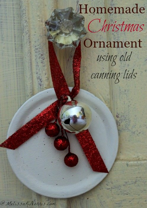 take used canning lids and turn them into homemade christmas ornaments talk about frugal and - Cute Homemade Christmas Decorations