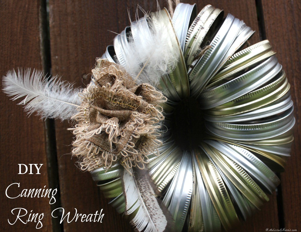 Learn how to make this simple DIY Christmas canning ring wreath with supplies already on hand. Plus, you can use it for any holiday. I think this is my most favorite wreath ever! And no pine needles drying up and falling on my floor!