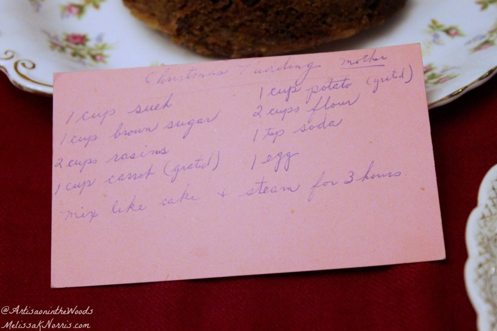 I love old-fashioned traditional recipes. This was her grandmother's Christmas pudding recipe and I love that it can be made ahead of time and frozen. Plus, the sauce sounds amazing and a great way to use dried fruit or carrots. I'm so trying this one!