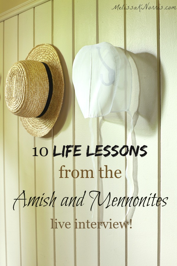 Ever wonder if plain living is right for you? Learn these 10 lessons and observations from the Amish and Mennonites we can use and take into our modern lives. Great wisdom here!