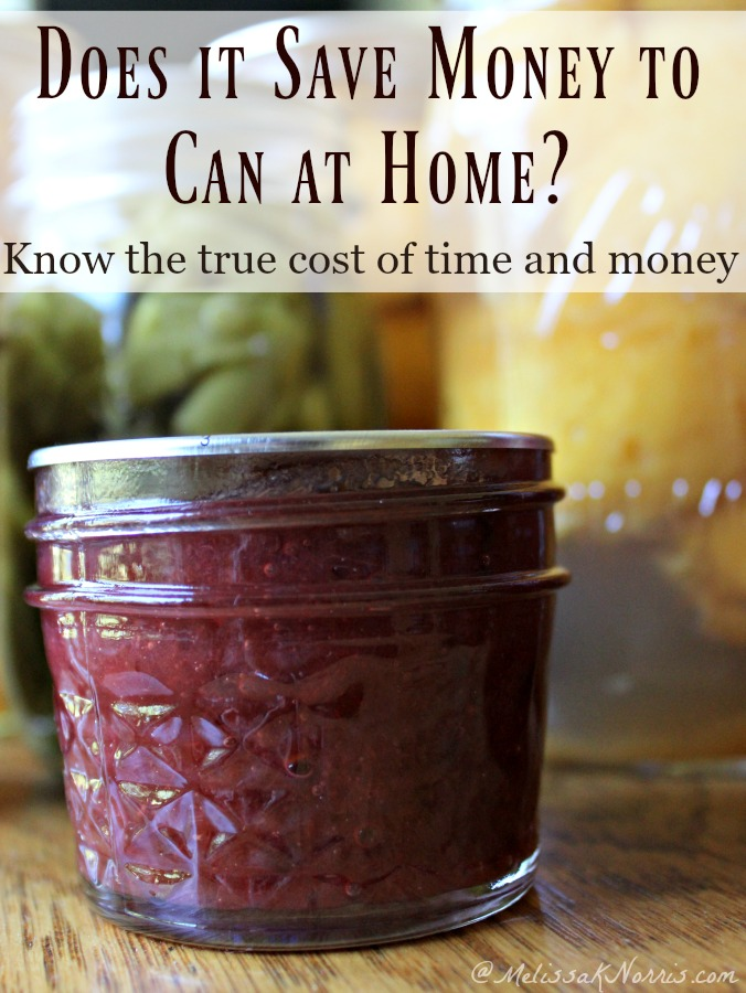 Does canning food at home really save money and is it worth it? Break down of the true cost of equipment, the time, and money and if it's really worth it to put up jars of food at home. Great price breakdown