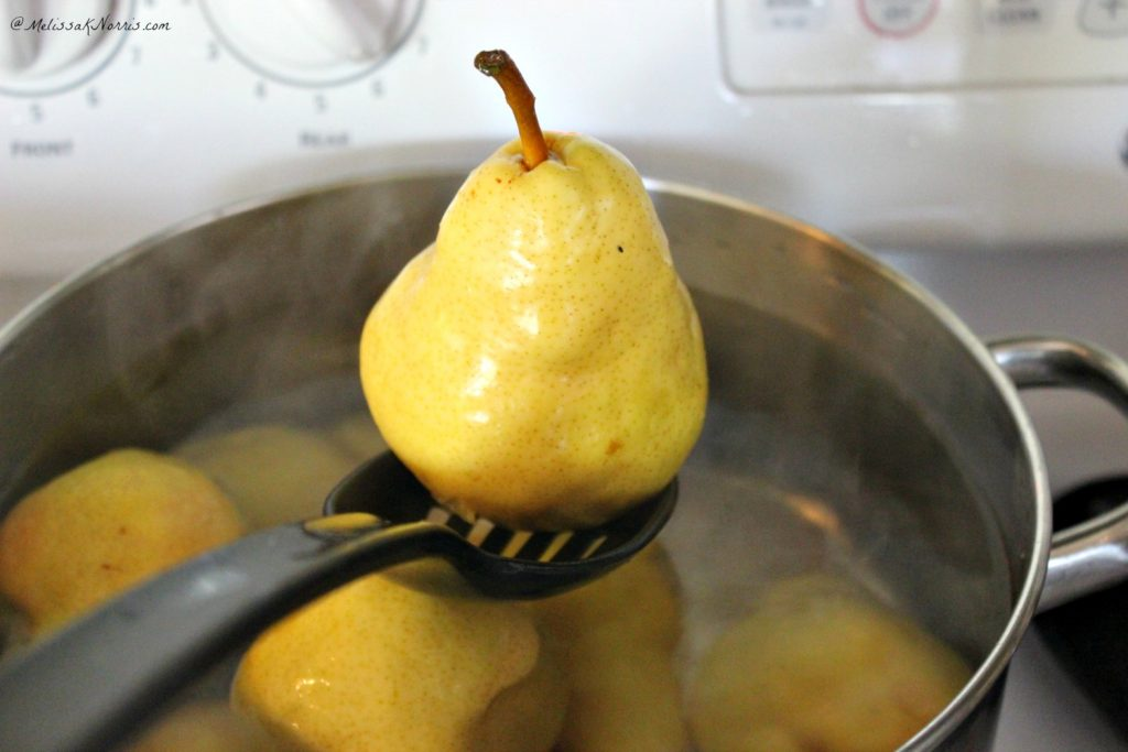 How to can pears, full tutorial and the peeling method is genius! Love the adaption for making cinnamon or spiced pears. Can't wait to add this one to the home pantry.