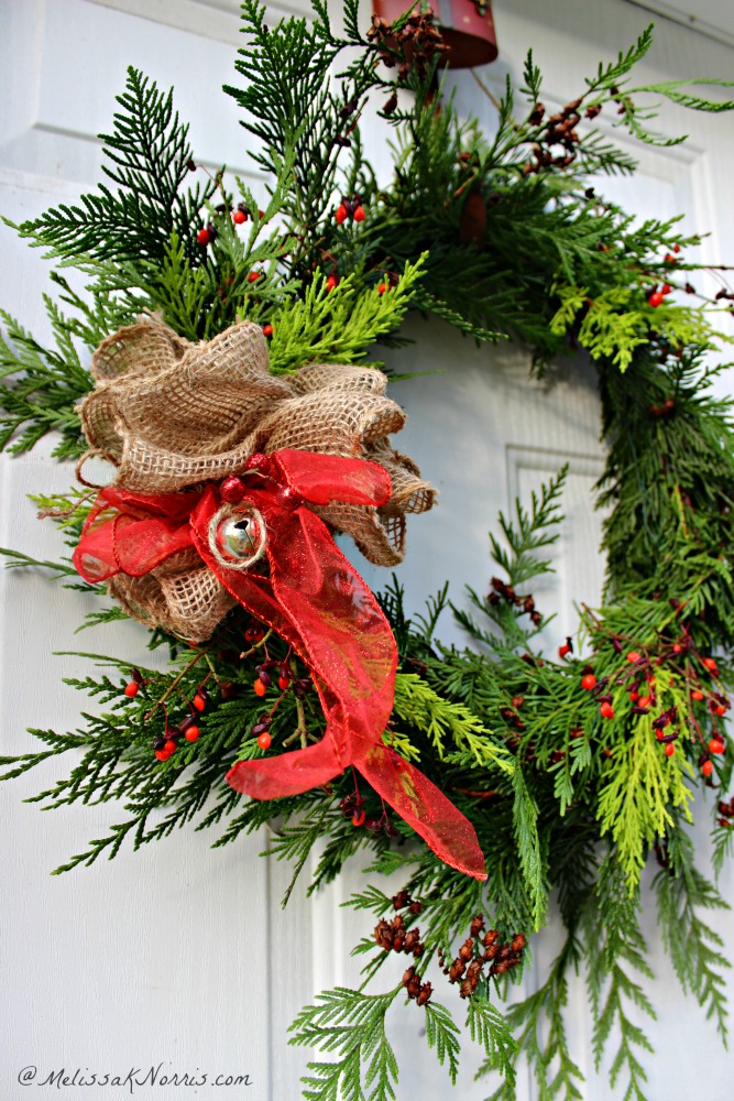 Learn how to make an old-fashioned evergreen wreath at home using things already growing on your homestead or property for a homemade Christmas. Easy tutorial and video