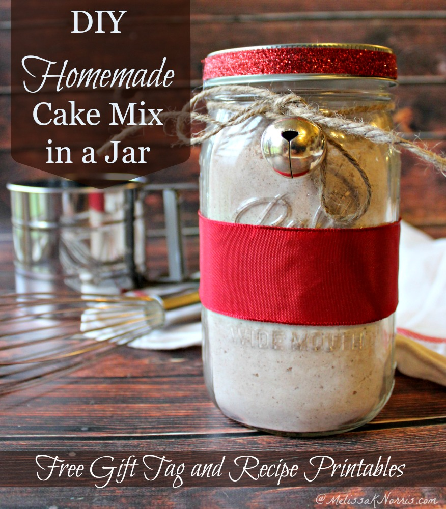Pour the cake mix into a clean and dry wide-mouth canning jar, gently packing the mix down. Next, add the mini chocolate chips in an even layer on top of the cake mix. Pack the mini marshmallows into a snack-sized ziplock bag, removing as much air as possible before sealing the bag.