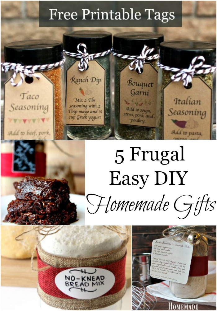 These are 5 easy DIY homemade gifts, plus free printable tags. I love that I already have all of the ingredients on hand.