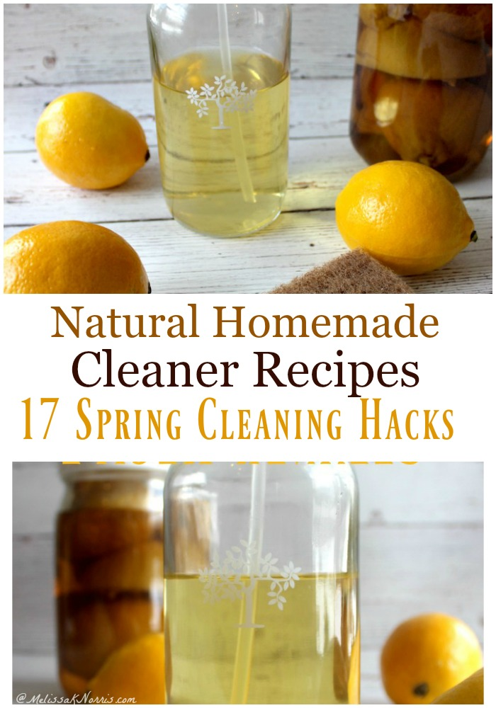 Natural Homemade Cleaner Recipes 17 spring cleaning hacks