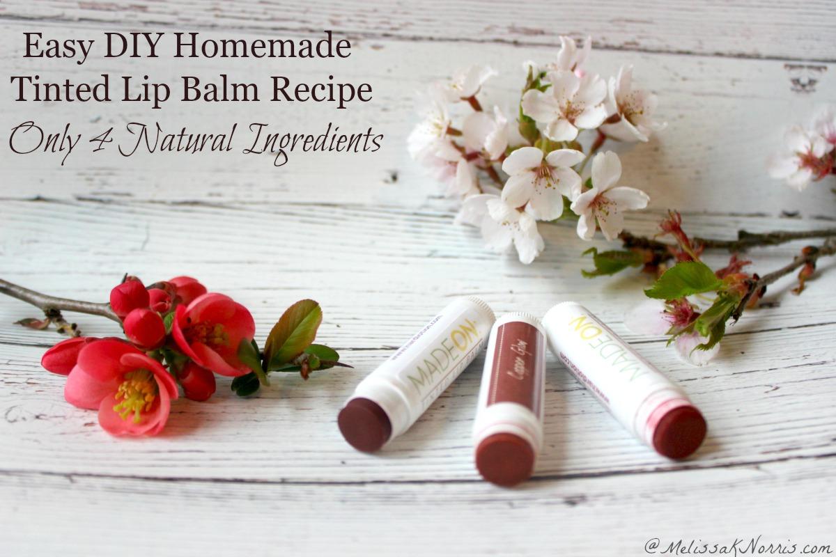 Homemade Tinted Lip Balm Recipe- Easy DIY