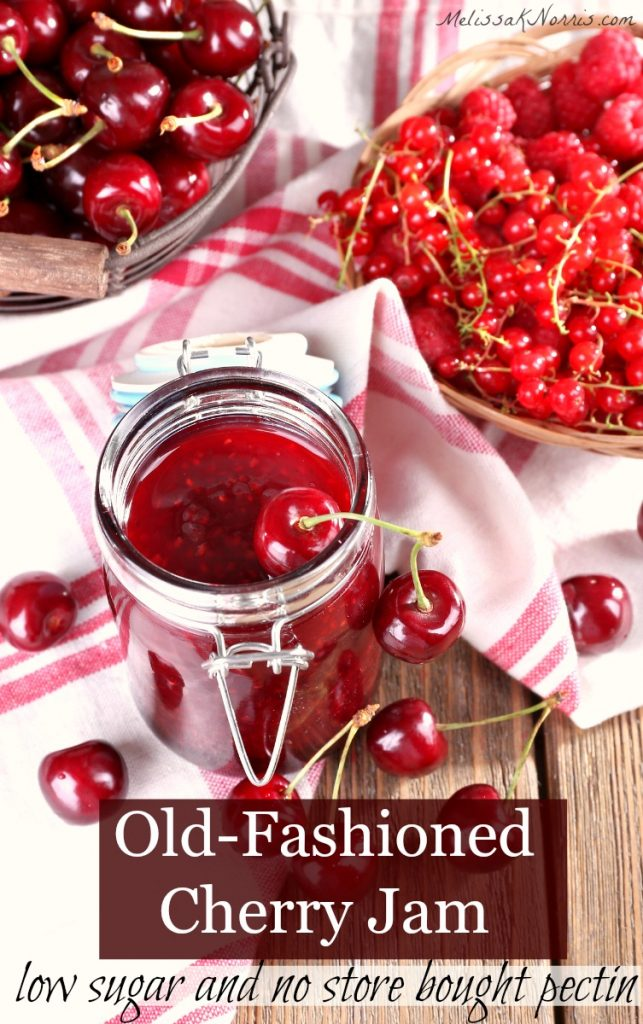 old-fashioned cherry jam recipe without pectin and low sugar
