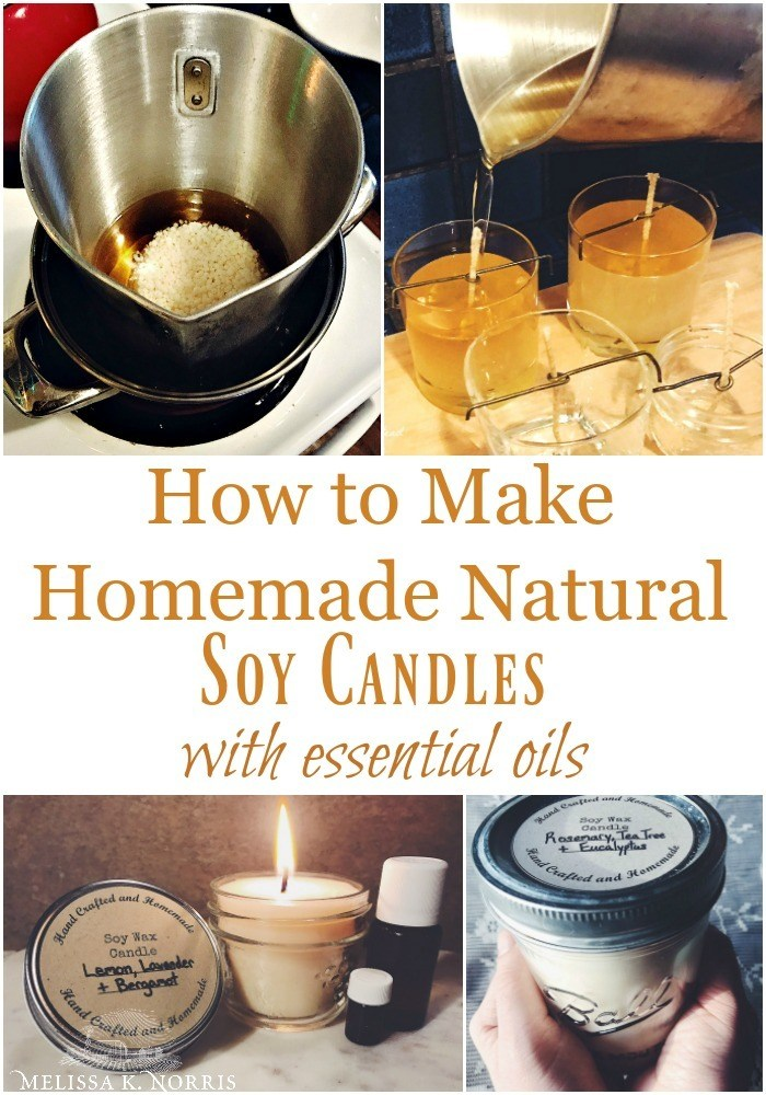 how to make candles soy