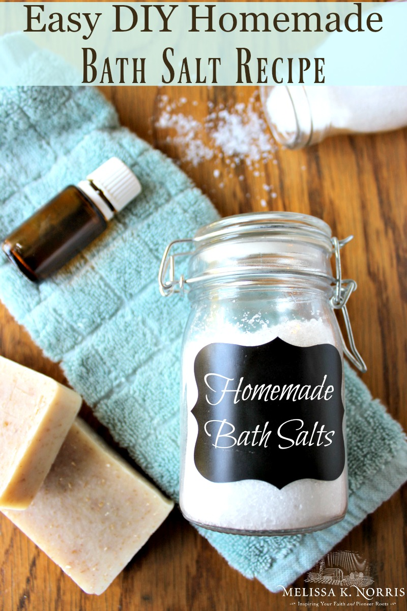DIY Bath salt recipe