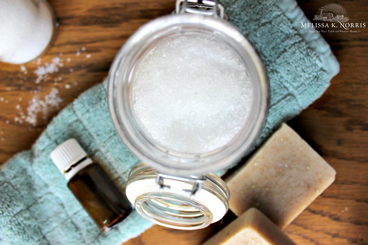 Homemade DIY Bath Salt Recipe with Essential Oils