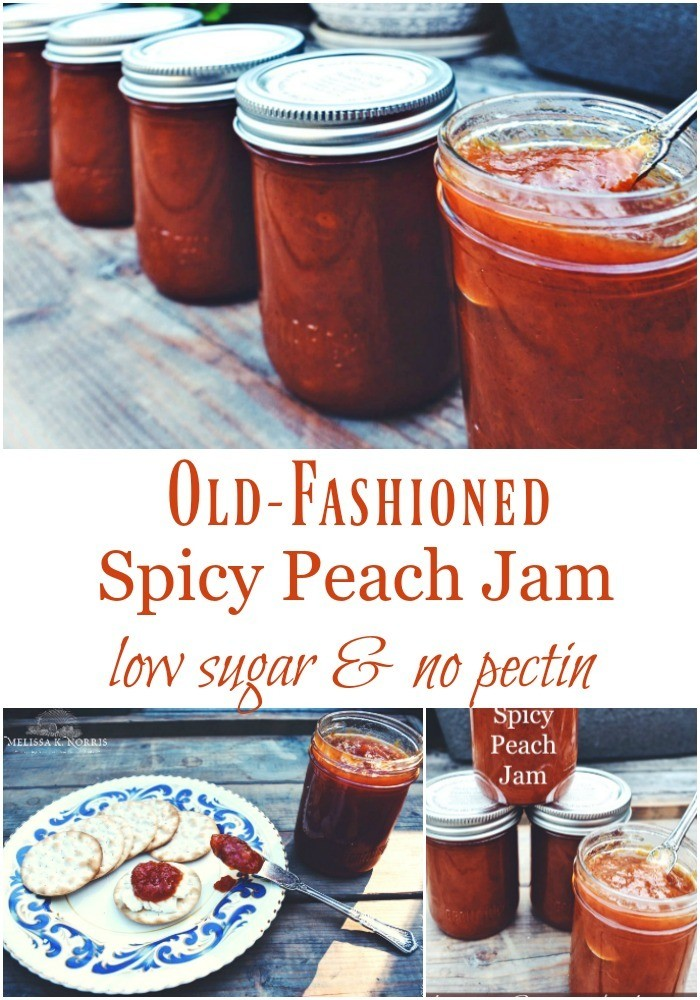 Spicy peach jam recipe low sugar and no pectin for Peach preserves no pectin