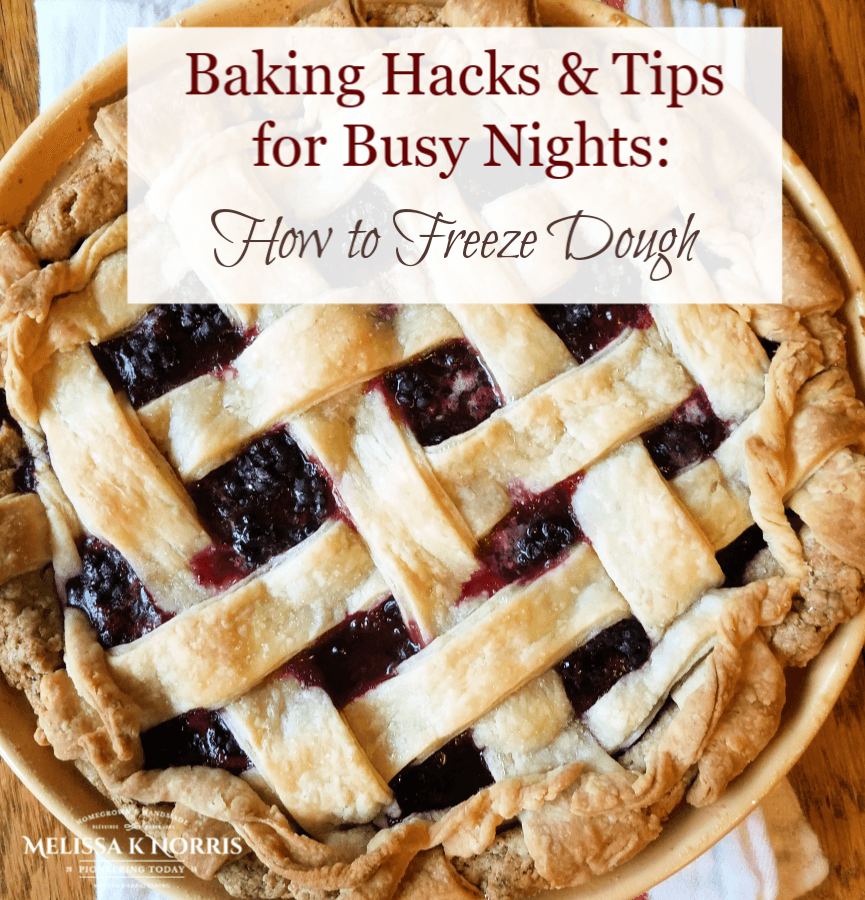 Baking Hacks & Tips How to Freeze Dough pie crust on table
