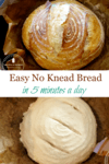 no knead bread on parchment paper inside cast iron Dutch Oven