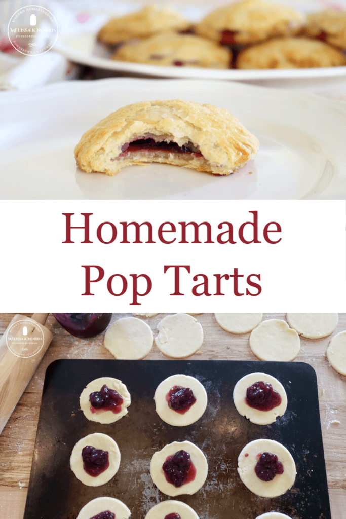homemade pop tart on plate and baking sheet